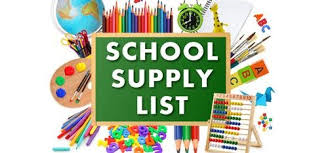 Elementary School Supply Lists