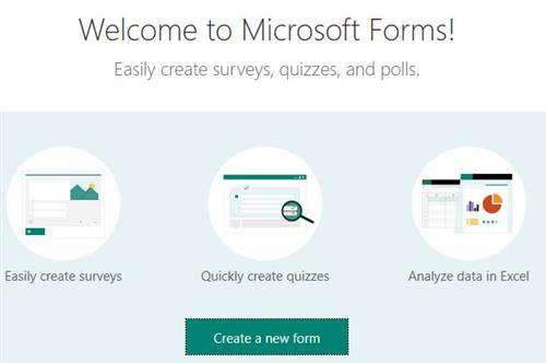 Forms  Welcome Screen
