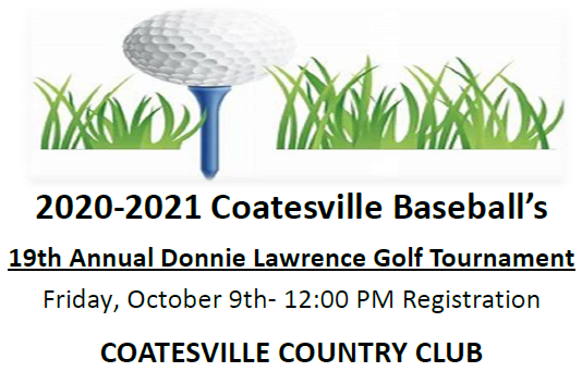 Coatesville Baseball's 19th Annual Golf Tournament Scheduled