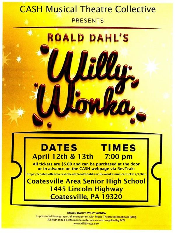 "Purchase Tickets for ""Willy Wonka, The Musical"""